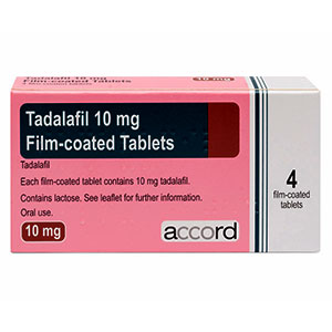Tadalafil 10mg package front view foto