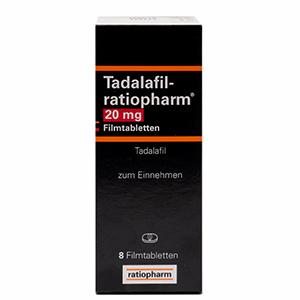 Tadalafil ratiopharm 20mg packung